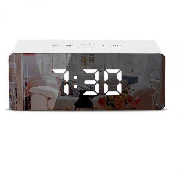 Огледало-часовник с будилник